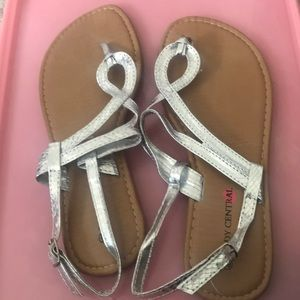 Never Worn Before Silver Sandals